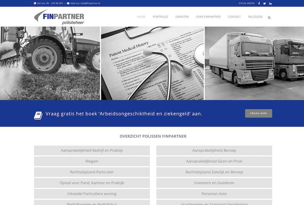 Nieuwe website voor Finpartner