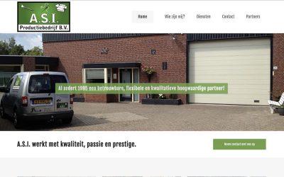 Site ASI Productiebedrijf live!