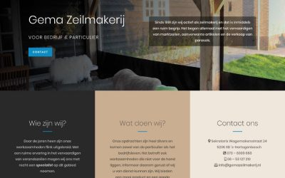 Website Gema Zeilmakerij, Webdesign Empel