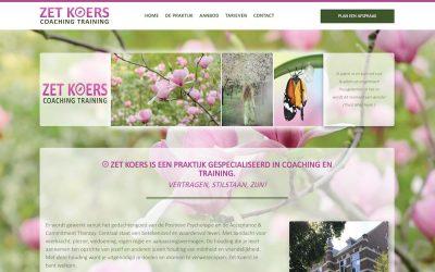 Nieuwe website coaching praktijk