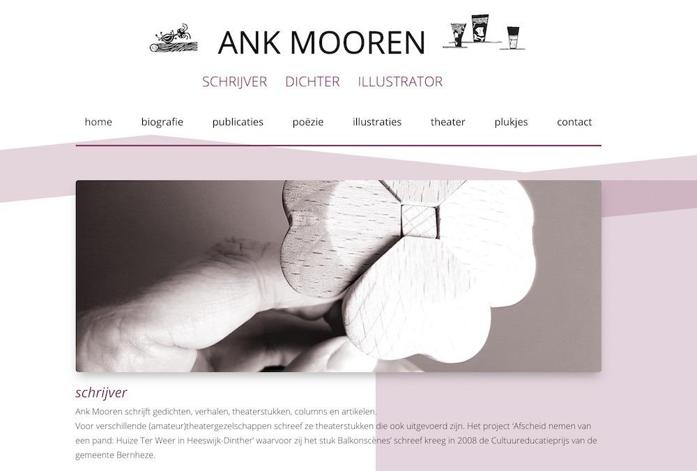 Website gebouwd voor Ank Mooren
