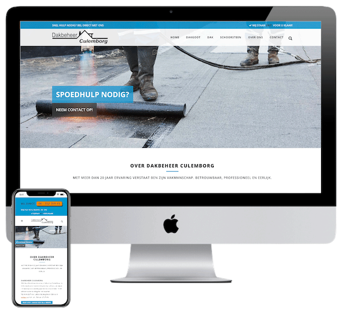 Webdesign Culemborg, Dakdekkers website, WordPress Den Bosch