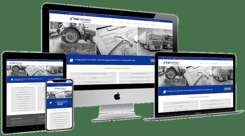 Finpartner, WordPress design
