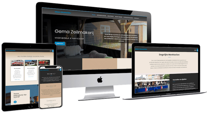 Gema Zeilmakerij, Webdesign Empel