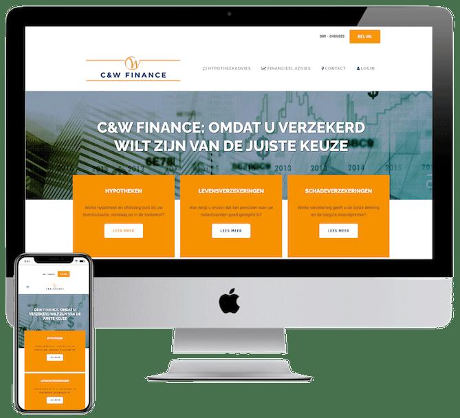 Website verzekeringskantoor laten bouwen, WordPress website