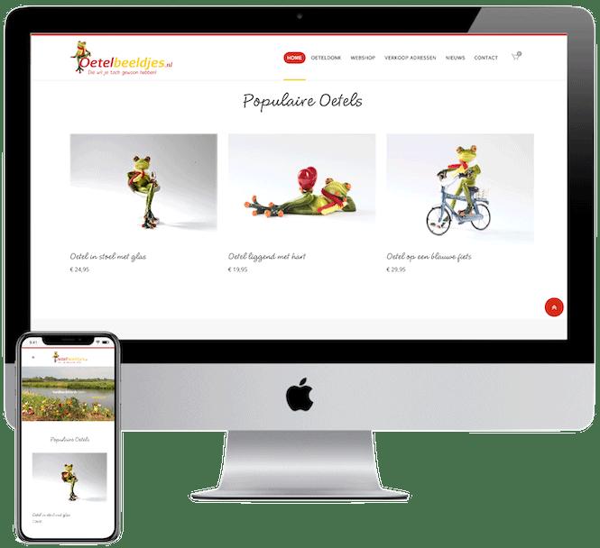 Oetelbeeldjes webshop, Webshop laten bouwen