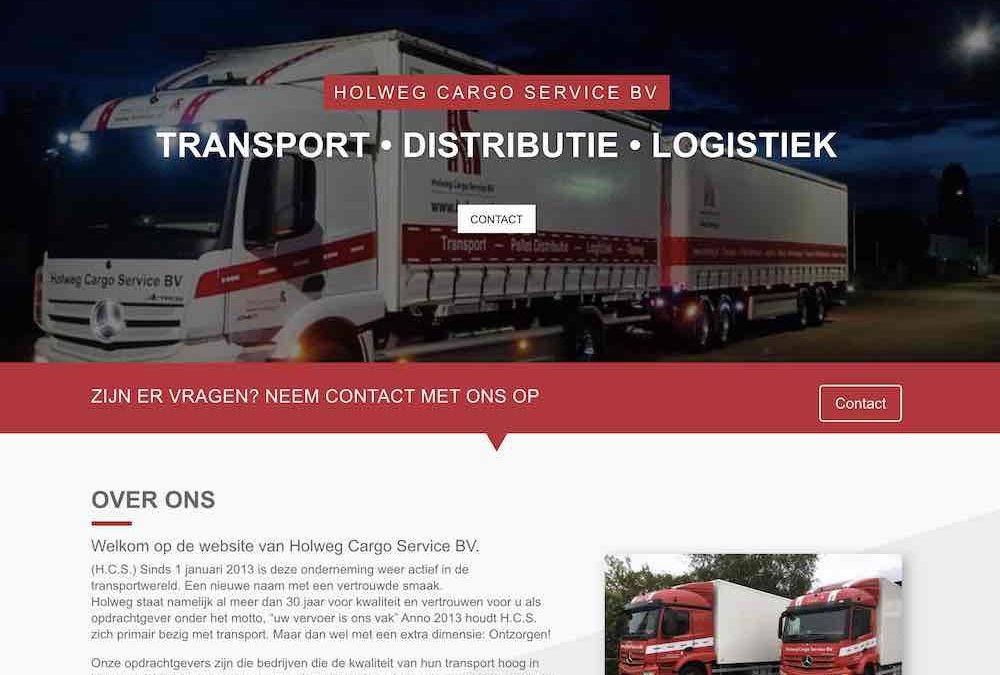 Website Holweg.nl online