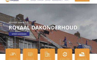 Nieuwe website voor Royaal Dakonderhoud