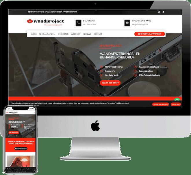 Wandproject nieuwe website, webdesigner Den Bosch, Rosmalen