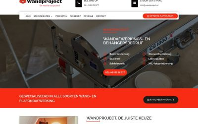 Wandproject, webdesigner Rosmalen, website inclusief woocommerce