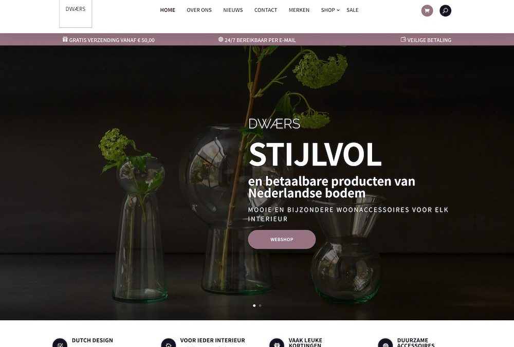 Eerste webshop van 2021 online