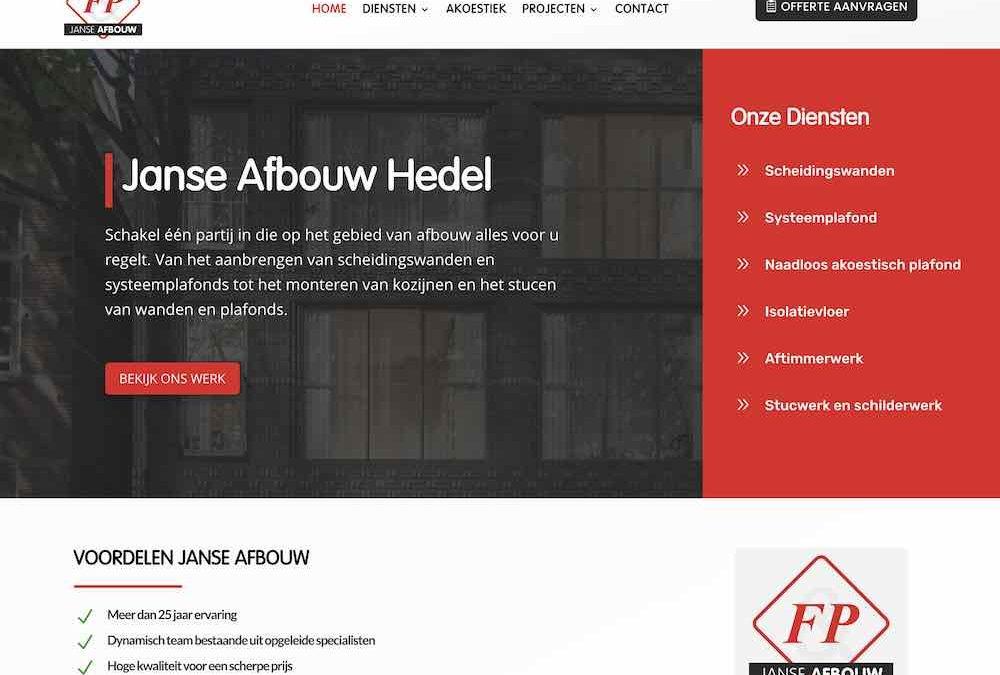 Nieuwe website voor Janse Afbouw Hedel