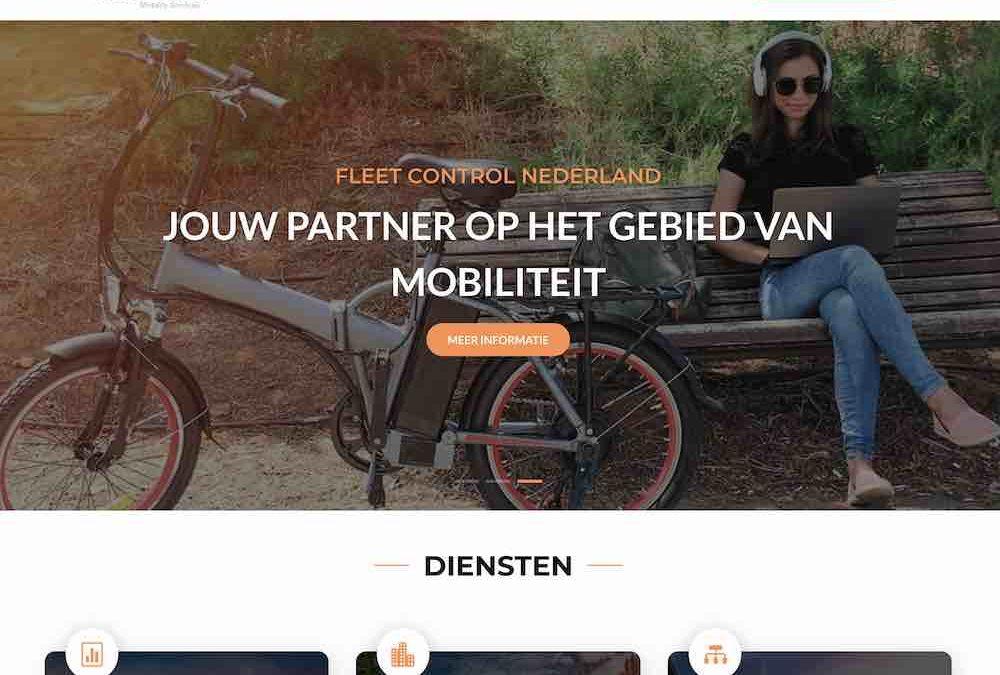 Website ontworpen voor Fleet Control Nederland