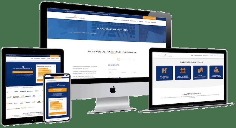 Website financiële sector, webdesigner Den Bosch, webbouwer Rosmalen