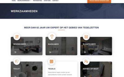 Brekelmans tegelwerken, webdesign Rosmalen