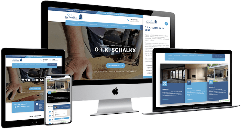 OTK Bouw, WordPress website bouwen Best