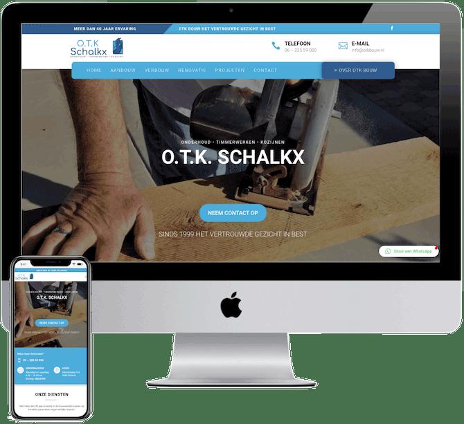 Website bouwbedrijf, website bouwen aannemer