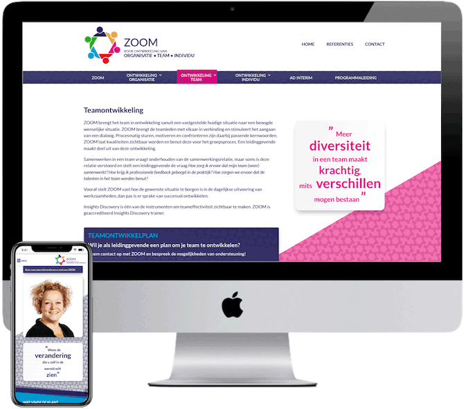 ZOOM, webdesign Rosmalen