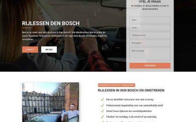 Website ontworpen voor Rijschool Thomassen